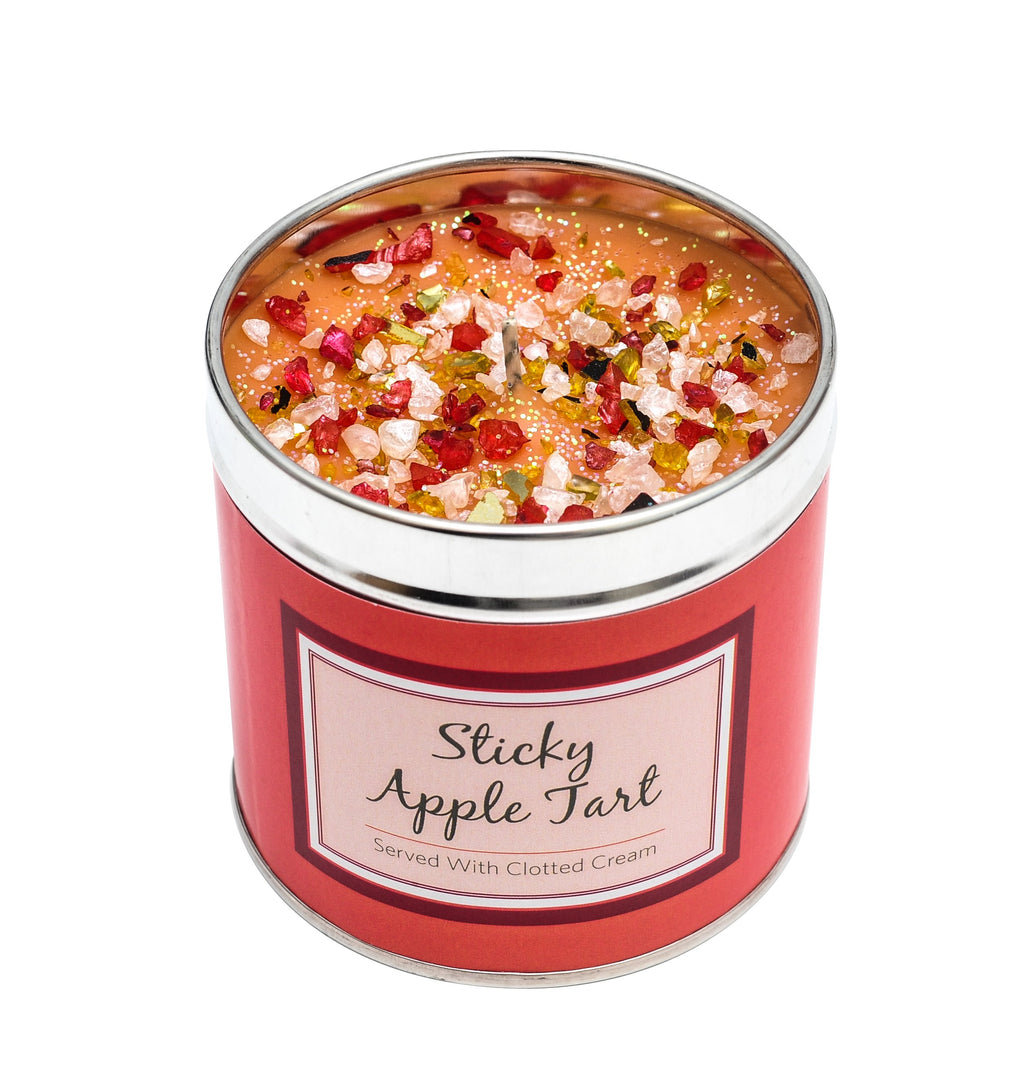 Sticky Apple Tart Scented Candle Tin Candle Tin Best Kept Secrets