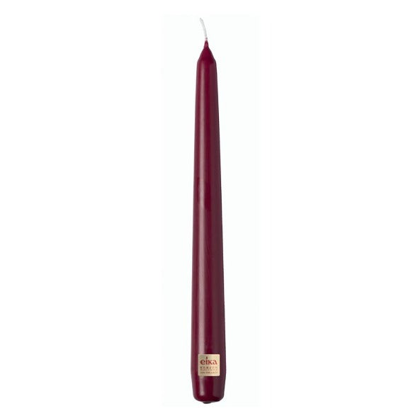 Tapered Dinner Candle - Burgundy (Single) Taper Bolsius