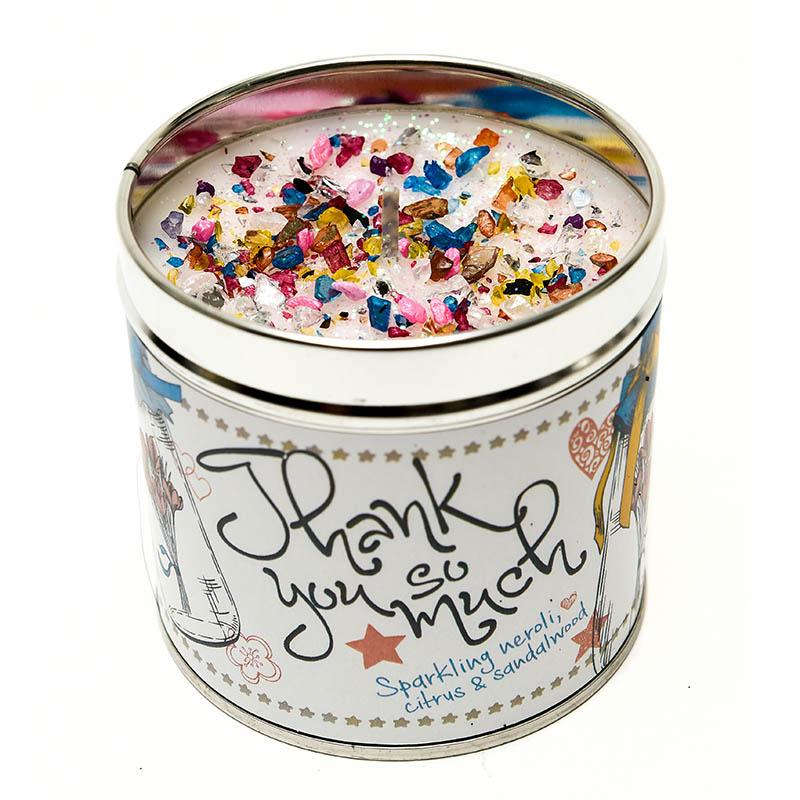 Thank You Just Because... Candle Tin Best Kept Secrets
