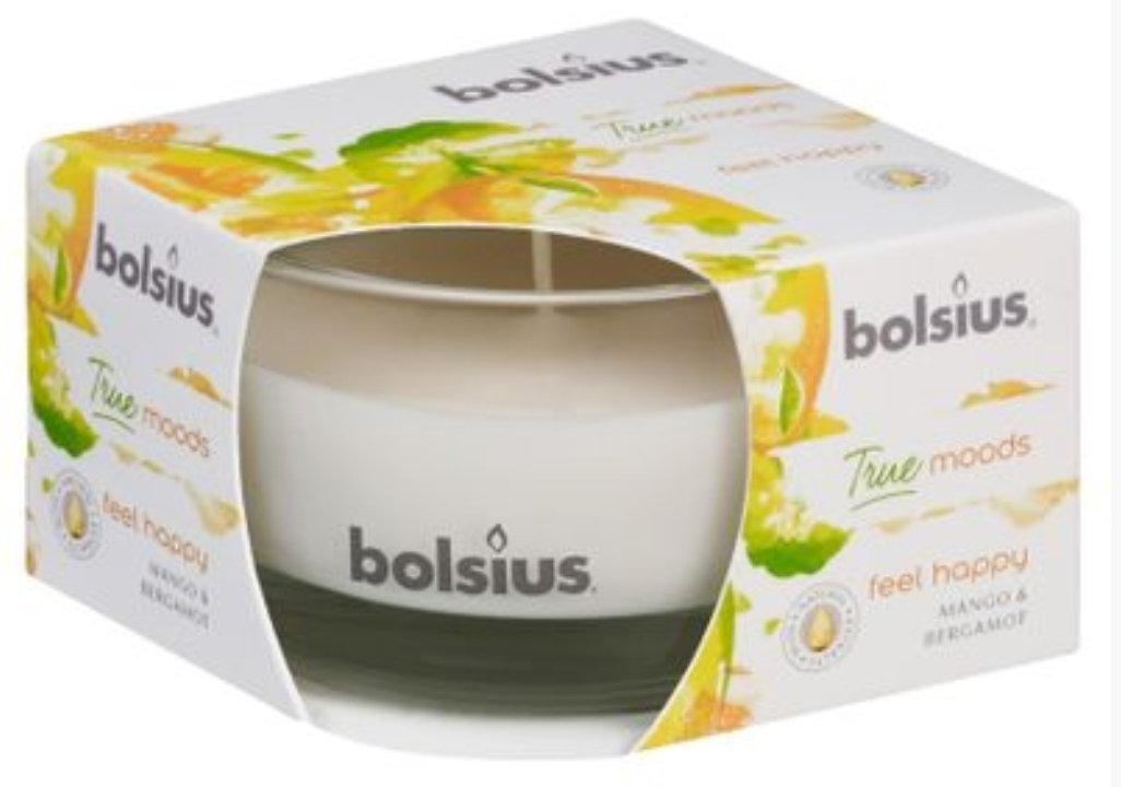 True Moods Small Candle - Feel Happy Candle Bolsius
