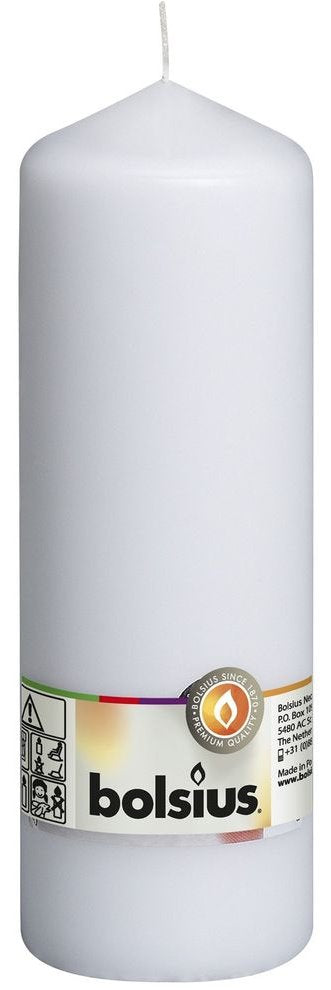 White Pillar Candle - 200x70mm Pillar Bolsius