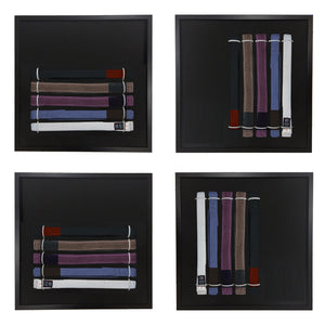 Belt Display Rack for BJJ with Velcro Friendly Backing Fabric (Free Patch & Shipping!)