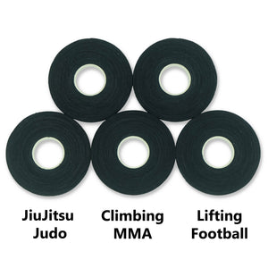 LAST PIECE! Finger Tape for BJJ, Grappling, Judo, Climbing 0.3 in x 15 yds, 5 Rolls per Pack (Black)