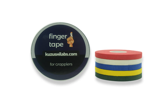 Finger Tape for BJJ, Grappling, Judo, Climbing 0.3 in x 15 yds, 5 Rolls per Pack  (Color Sampler) [Clearance! Link inside]