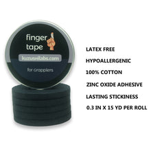 Load image into Gallery viewer, Black Finger Tape - 0.3 in x 15 yds, 5 Rolls [Australia only]
