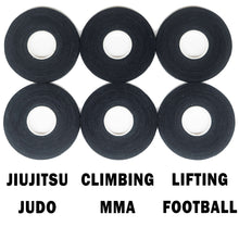 Load image into Gallery viewer, Finger Tape for BJJ, Grappling, Judo, Climbing 0.3 in x 15 yds, 6 Rolls per Pack (Black)