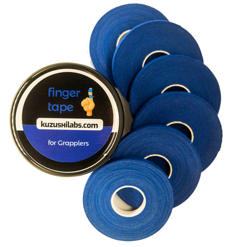 Finger Tape for Grappling, Judo, Climbing 0.3 in x 15 yds, 6 Rolls per Pack (Blue)