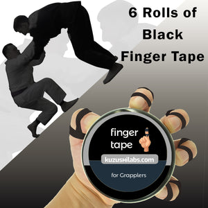 Black Finger Tape - 0.3 in x 15 yds, 6 Rolls [Australia Only]