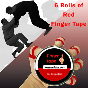 Red Finger Tape - 0.3 in x 15 yds, 6 Rolls [Amazon Only]
