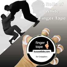 Load image into Gallery viewer, Finger Tape for Grappling, Judo, Climbing 0.3 in x 15 yds, 6 Rolls per Pack (White)