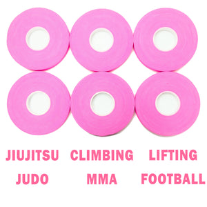 Finger Tape for Grappling, Judo, Climbing 0.3 in x 15 yds, 6 Rolls per Pack (Pink)
