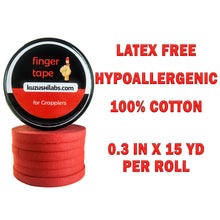 Load image into Gallery viewer, Red Finger Tape - 0.3 in x 15 yds, 6 Rolls [Amazon Only]