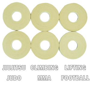 Finger Tape for Grappling, Judo, Climbing 0.3 in x 15 yds, 6 Rolls per Pack (White)