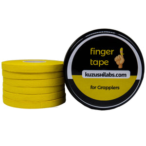 Yellow Finger Tape - 0.3 in x 15 yds, 6 Rolls [Amazon Only]