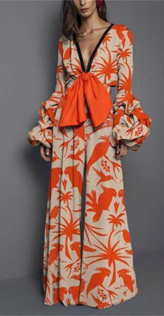 Orange Flowers Jumpsuit
