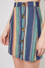 Load image into Gallery viewer, Denim Multi Stripe Skirt