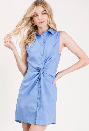Knot Shirt Dress
