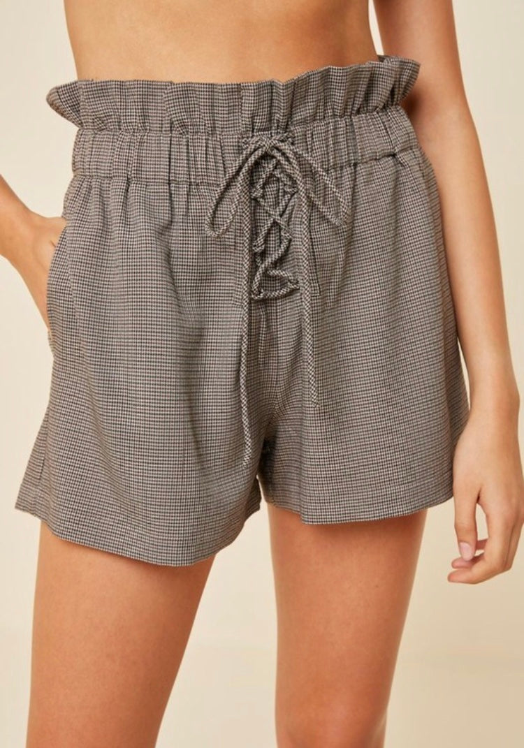 Houndstooth Short