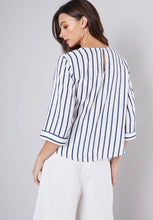 Load image into Gallery viewer, Blue Stripe Blouse