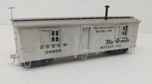 Sn3 D&RGW 04965 MOW Bunk Car