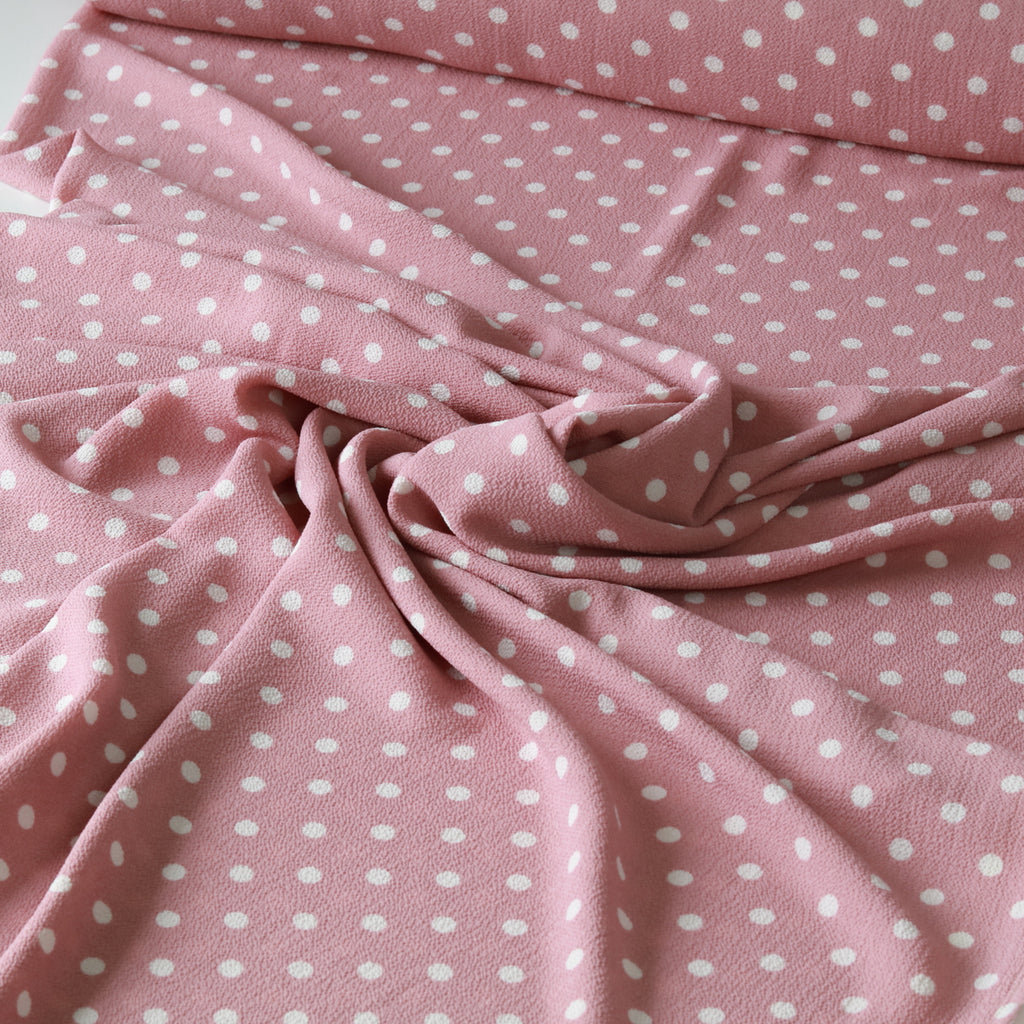 Bubble Crepe Tea Party Polka-Antique Pink
