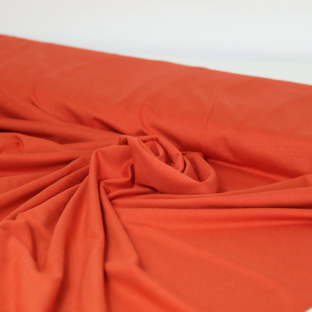 Viscose Jersey- Burnt Orange