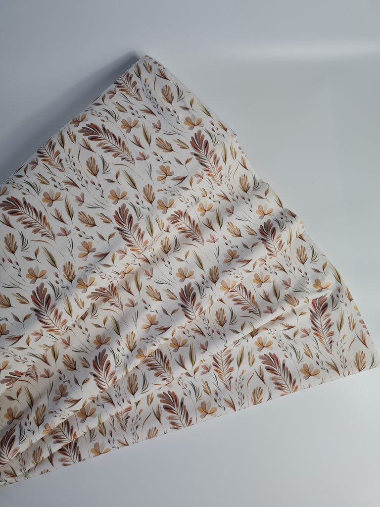 Cotton jersey Leaves Print
