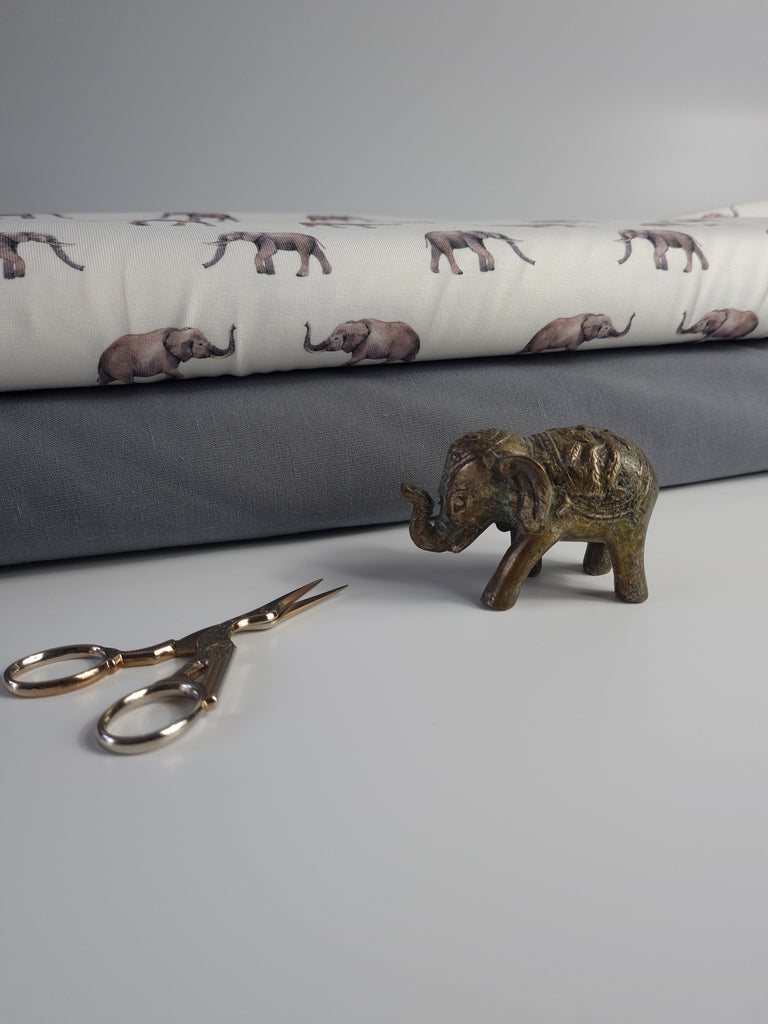 Cotton Jersey Elephant Print