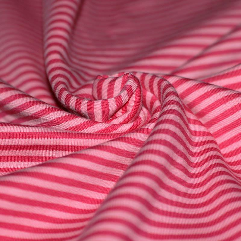 Cotton jersey- Pink & Fuchsia Striped