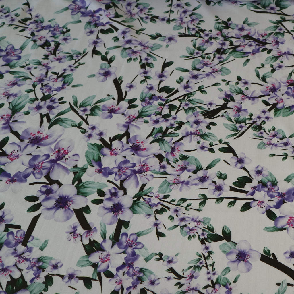 Violet Vines Cotton 'Marlie' Lawn