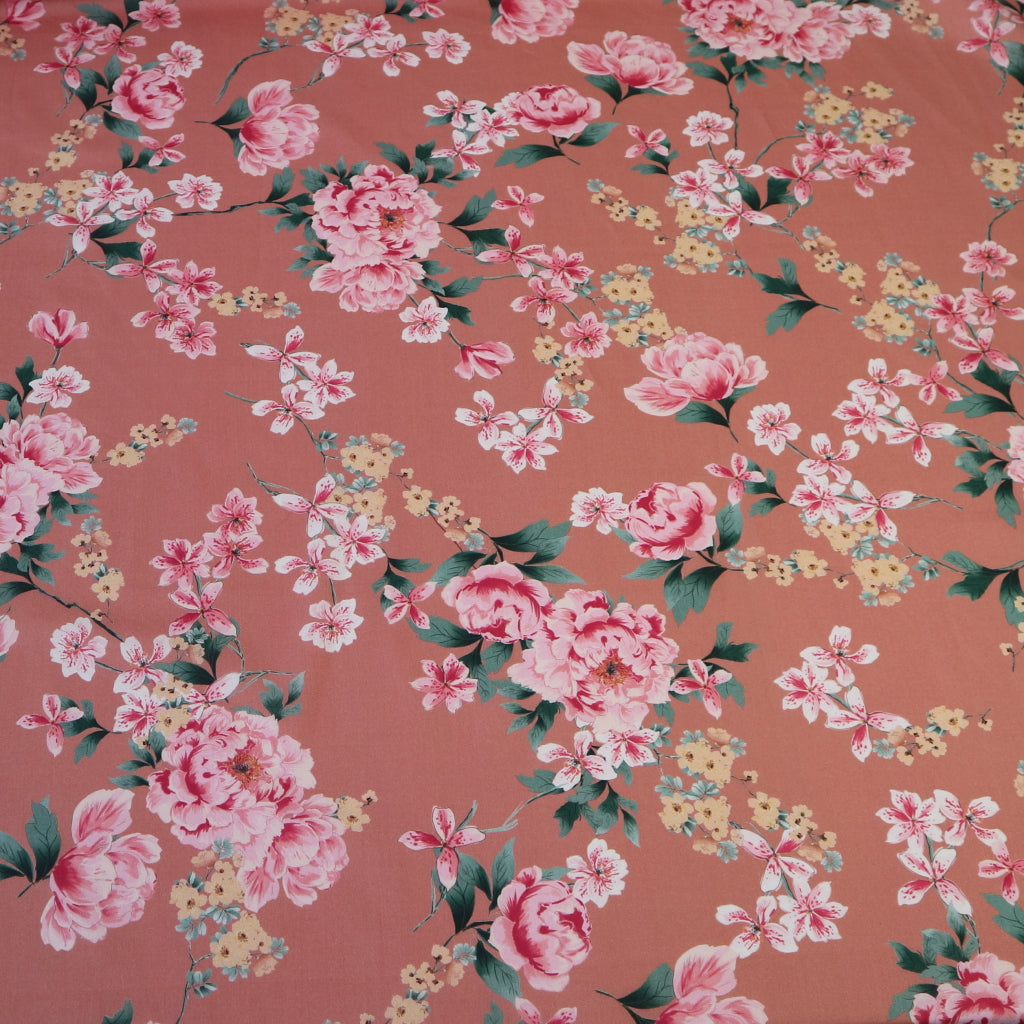 Kew Gardens Cotton Combed Lawn- Pink