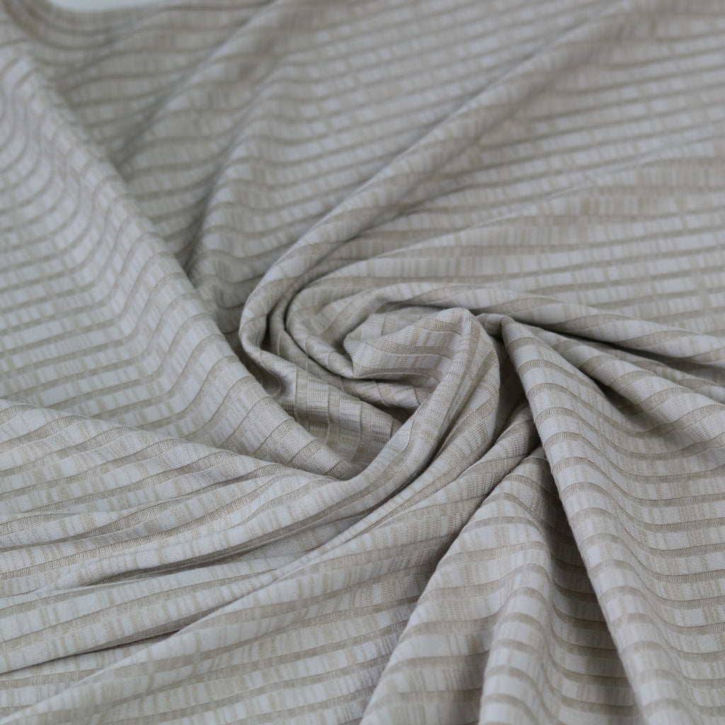 Viscose Ribbed Jersey- Beige