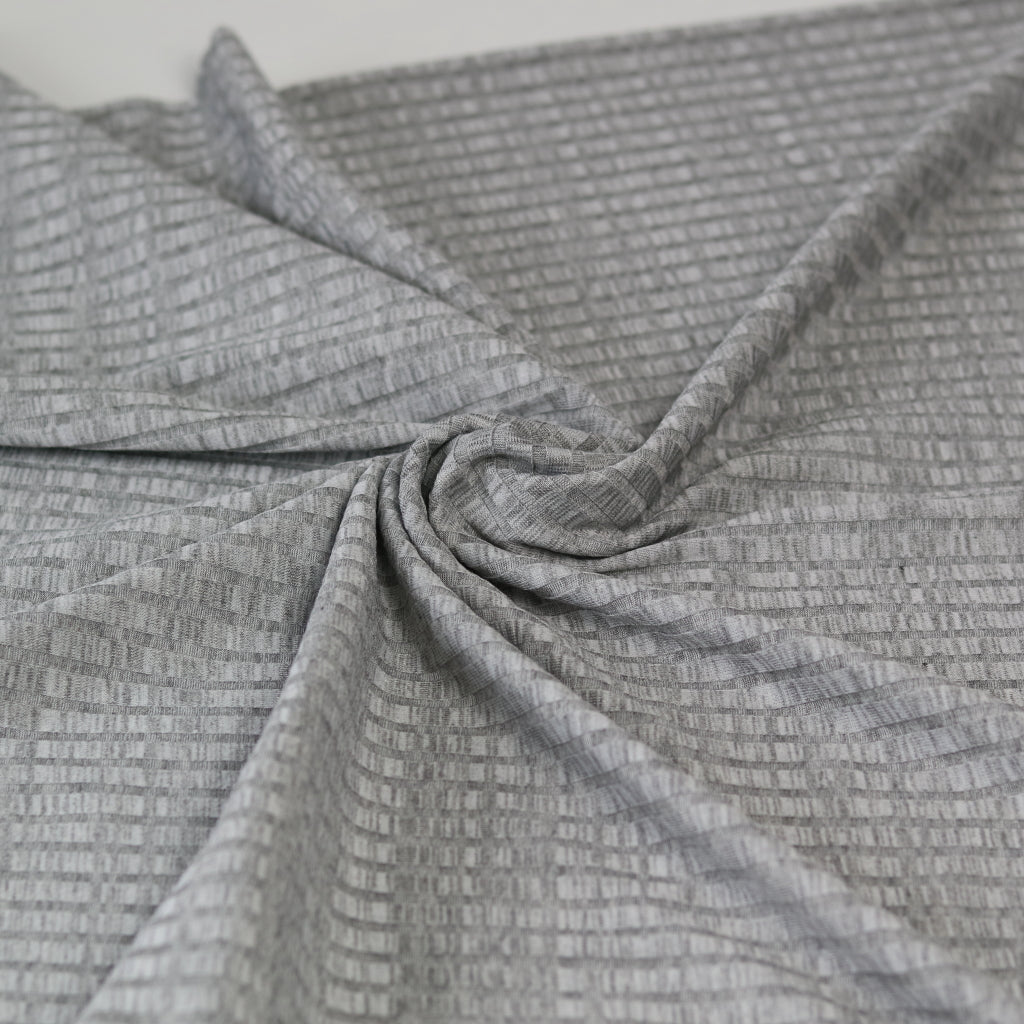 Viscose Ribbed Jersey- Grey/Silver