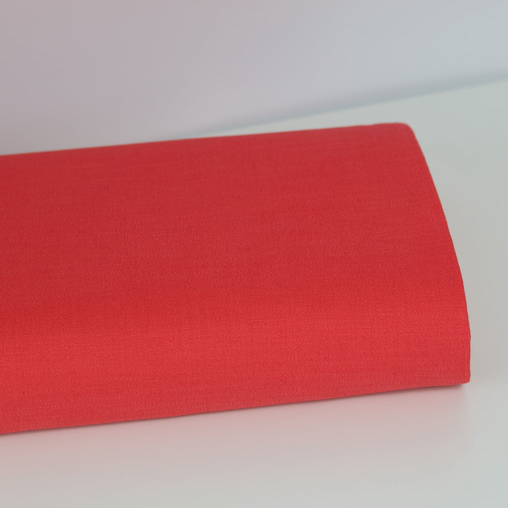 Stretch Linen- Coral Pink