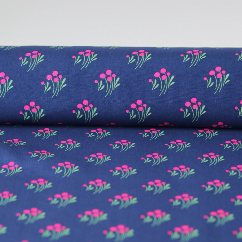 Flower Viscose- Royal Blue