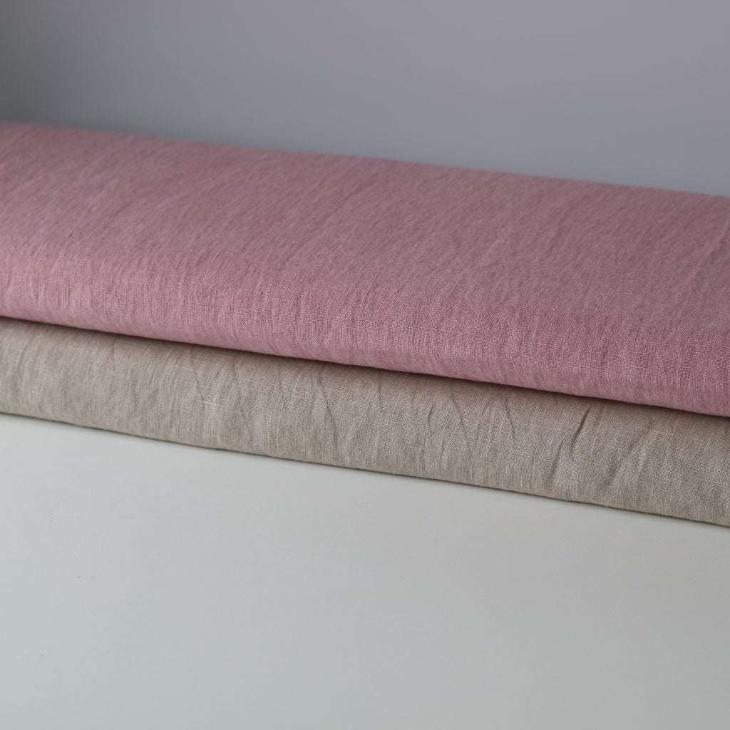 Organic Linen-Naturally Dyed Old Pink
