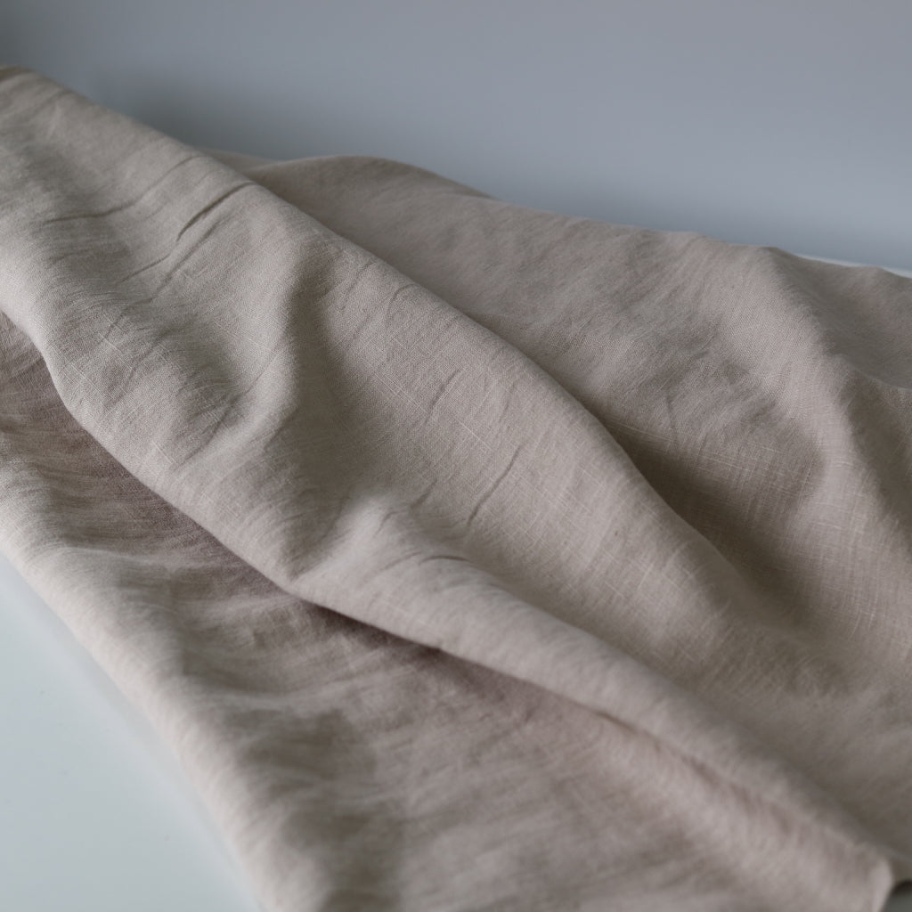 Organic Linen- Naturally Dyed Pebble
