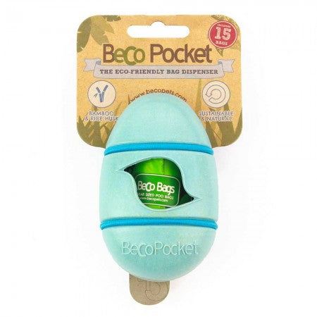 Blue bamboo pocket poo bag dispenser