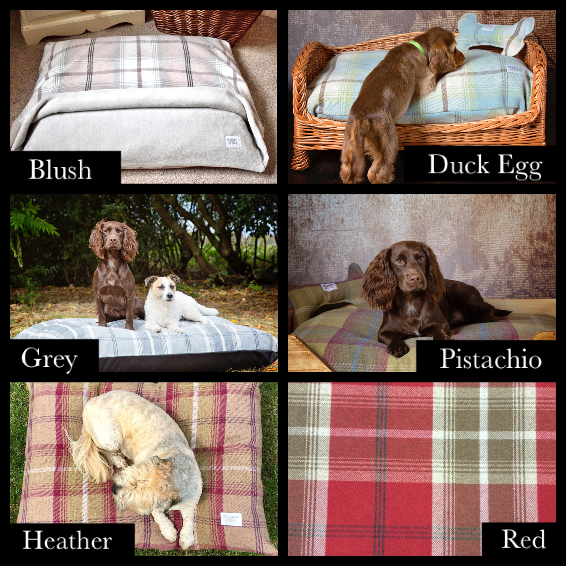 High-Sided Rustic Wooden Dog Beds