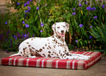 Red Highland Tartan Washable Memory Foam Dog Bed