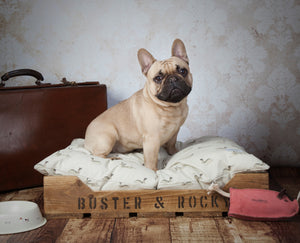 Rustic Wooden Dog Bed