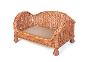 Luxury Wicker Dog Settee