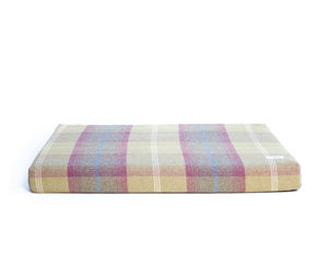 Pistachio Highland Tartan Washable Memory Foam Dog Bed