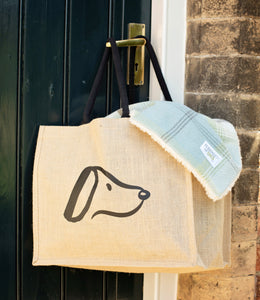 Jute Designed for Dogs Shopping Bag