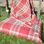 Red Tartan Pillow Dog Beds