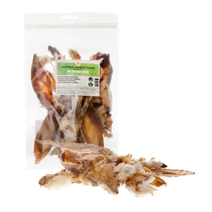 Natural air-dried rabbit ear with fur dog chew treat