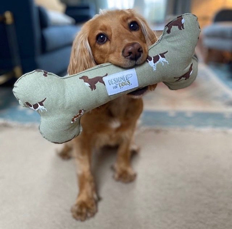 Sophie Allport Spaniel Bone Dog Toy