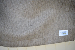 New! Stone Herringbone Tweed Soft & Cosy Blankets