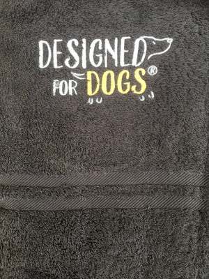 Dog drying towels charcoal grey