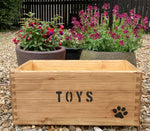Rustic & Painted Wooden Toy Boxes